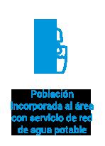 Población incorporada al área con servicio de red de agua potable